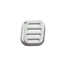 Lokar BAG-6003 Billet Alum Dimmer Switch Cover, Ball-Milled, Brushed