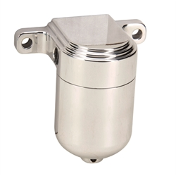 OTB Gear 6504 Smooth Fuel Filter, Polished, Left-to-Right Fuel Flow