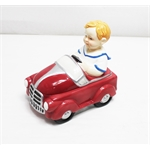 Garage Sale - Boy in Pedal Car Cookie Jar