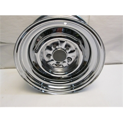 Garage Sale - OE Style Hot Rod Steel Wheel, Chrome, 15 X 7, 5 On 4-1/2 Inch