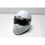 Garage Sale - Simpson Diamondback SA10 Racing Helmet, White, Size 7-3/8