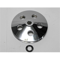 Garage Sale - Single Groove Power Steering Pump Pulley, Chromed Aluminum