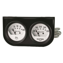 Auto Meter 2323 Auto Gage Mechanical 2 Gauge Console, Oil/Water