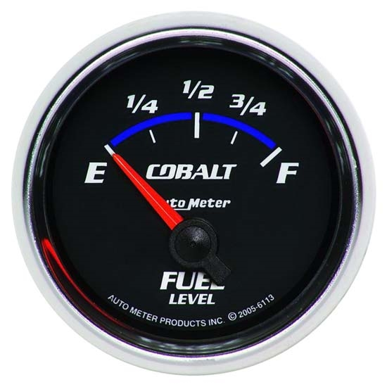 Auto Meter 6113 Cobalt Air-Core Fuel Level Gauge, 2-1/16 Inch