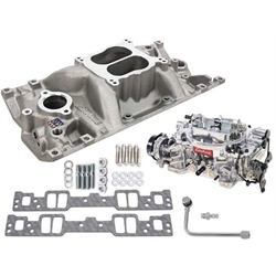 Edelbrock 2007 Performer Single-Quad Intake Manifold/Carburetor Kit