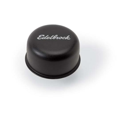 Edelbrock 4403 Oil Breather Cap, Steel, Black, Push-In