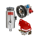 Garage Sale - KRC Pro Aluminum SBC Pump Kit, Serpentine, Block Mount, Remote Reservoir