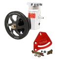 KRC 58010115 Cast Iron SBC Pump Kit, V-Belt, Block Mount, Bolt-On Tank
