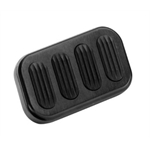 Lokar XBAG-6005 Standard Black Billet Alum Brake Pedal Pad w/Rubber