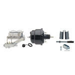 55-57 Fullsize Chevy Brake Booster Conversion Kit, 1 In Bore, Blk