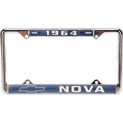 64 Nova License Plate Frame, Pr
