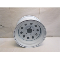 Garage Sale - White Circle Track Wheel, 15X8, 5 On 4-3/4 Inch, Non Beadlock