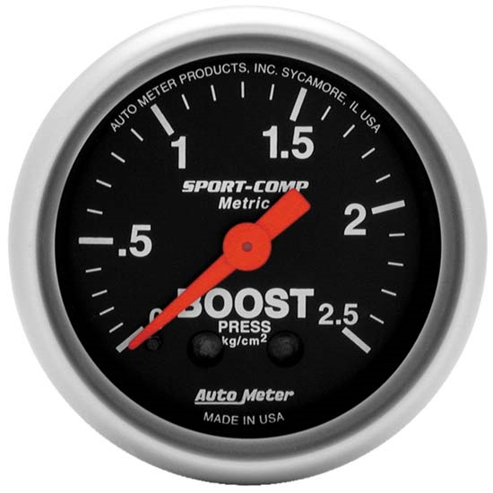Auto Meter 3304-J Sport-Comp Mechanical Boost/Vacuum Gauge