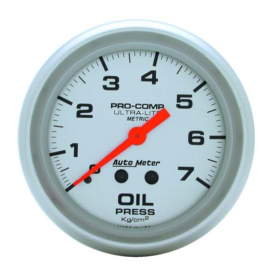 Auto Meter 4421-J Ultra-Lite Mechanical Oil Pressure Gauge, 2-5/8 Inch