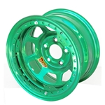 Aero 53985040WGRN 53 Series 15x8 Wheel, BL, 5 on 5, 4 Inch BS Wissota