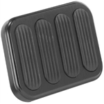 Lokar XBFG-6013 XL Series Billet Aluminum Brake Pedal Pad w/Rubber