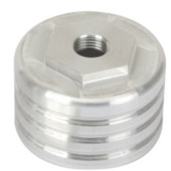 Speedway Aluminum Short Shock Cup, 12mm-1.25 Thread, 1.5 Inch Tall
