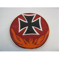Garage Sale - Cross Steering Wheel Cover With Flames