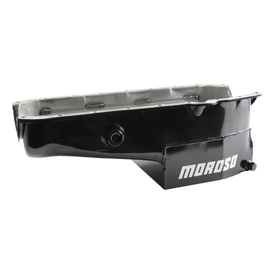Moroso 21322 Oval Track Oil Pan, 1955-1979 Driver Side Dipstick