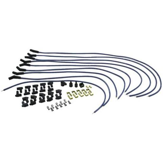 Moroso 73220 Spiral Core Spark Plug Wires Set 135 Degree Boot Blue Max