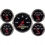 Auto Meter 1402 Designer Black 5 Piece Gauge Kit