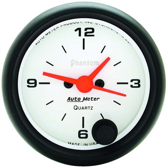 Auto Meter 5785 Phantom Quartz Clock Gauge, 2-1/16 Inch