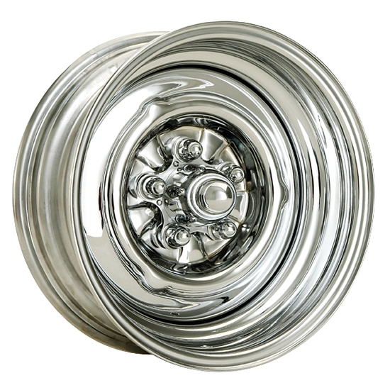 O/E Style Hot Rod 15 Inch Steel Wheel, Chrome, 15 x 5, 5 on 4-3/4