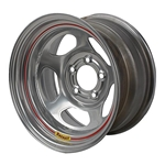 Bassett 50LF6S 15X10 Inertia 5 on 4.5 6 Inch Backspace Silver Wheel