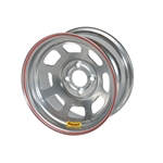 Bassett 50S44S 15X10 D-Hole Lite 4 on 4 4 Inch Backspace Silver Wheel