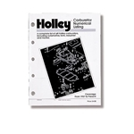 Holley 36-168 Carburetor Numerical Listing