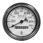 Stewart Warner 82663 Wings Mechanical Speedometer, White