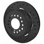 Wilwood 160-9814-BK SRP Drilled RH Rotor/Hat, 2.32 Inch Offset, Black