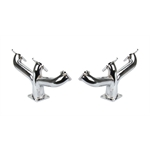 Flathead Center Dump Headers, Chrome