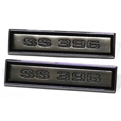 SS 396 Door Panel Emblems for 1968 Chevelle, Pair