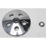 Garage Sale - Single Groove Power Steering Pump Pulley, polished Aluminum