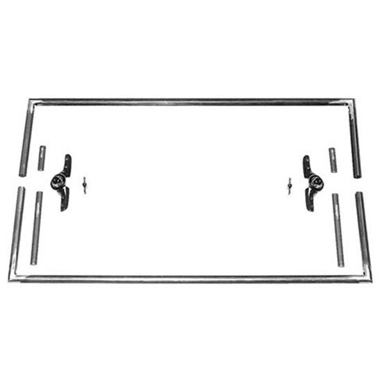 Square Top T Windshield Frame, 39 Inches Wide