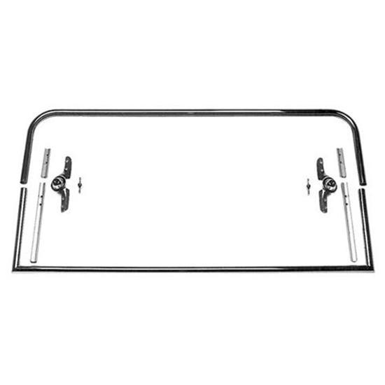 Two-Piece Round Top Model T Roadster Windshield Frame, 39-5/8 Inch Wide