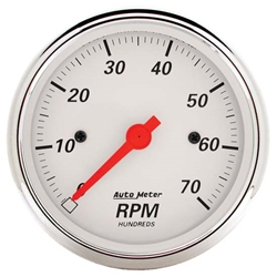 Auto Meter 1398 Arctic White Air-Core In-Dash Tachometer Gauge