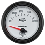 Auto Meter 7827 Phantom II Air-Core Oil Pressure Gauge, 2-5/8 Inch