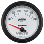 Auto Meter 7891 Phantom II Air-Core Voltmeter Gauge, 2-5/8 Inch