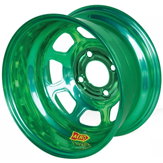 Aero 31-974030GRN 31 Series 13x7 Wheel, Spun, 4 on 4 BP, 3 Inch BS