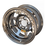 Aero 53-984540BLK 53 Series 15x8 Wheel, BL, 5 on 4-1/2, 4 Inch BS IMCA