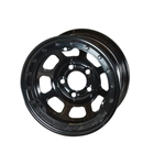 Bassett 50SJ4L 15X10 D-Hole Lite 5 on 5.5 4 In BS Black Beadlock Wheel
