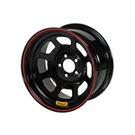 Bassett 53S56 15X13 D-Hole Lite 5 on 5 6 Inch Backspace Black Wheel