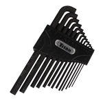 Titan Tools 12737 13-Piece Low Profile Hex Key Set, SAE