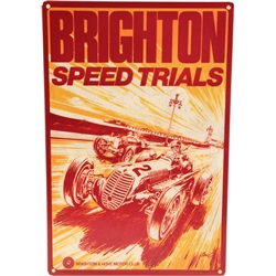 Brighton Speed Trails Race Flyer Tin, 12 x 18 Inch