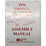 Dave Graham Factory Assembly Instruction Manual for 1970 Chevelle