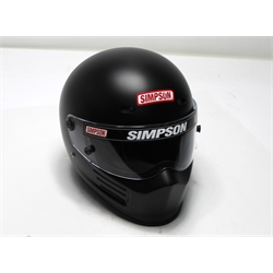 Garage Sale - Simpson Super Bandit SA2010 Racing Helmet, Flat Black, Size 7-3/8