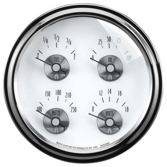 Auto Meter 2020 Prestige Pearl Air-Core Fuel Level Gauge, 2-1/16 Inch