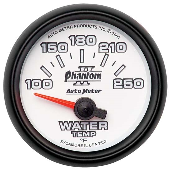 Auto Meter 7537 Phantom II Air-Core Water Temperature Gauge